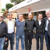 José Luis Corral, Manuel Martínez Forega, Raúl Tristán, Michle Suñén, David Lozano y Estebán Navarro (Feria del Libro de Tarazona)