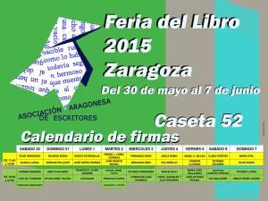 Feria del Libro de Zaragoza. Asociación Aragonesa de Escritores. Calendario de firmas, Caeta 52