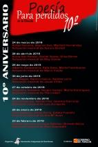 10º aniversario POESIA PARA PERDIDOS